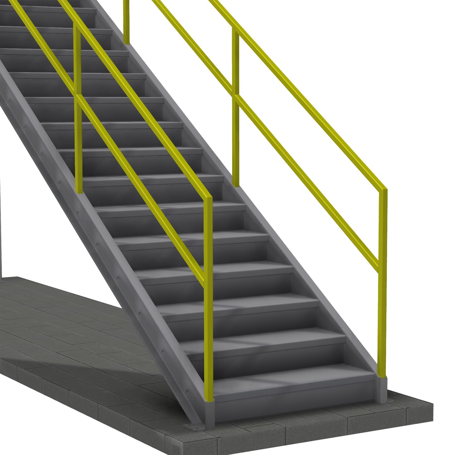 Stair with 2 Rails