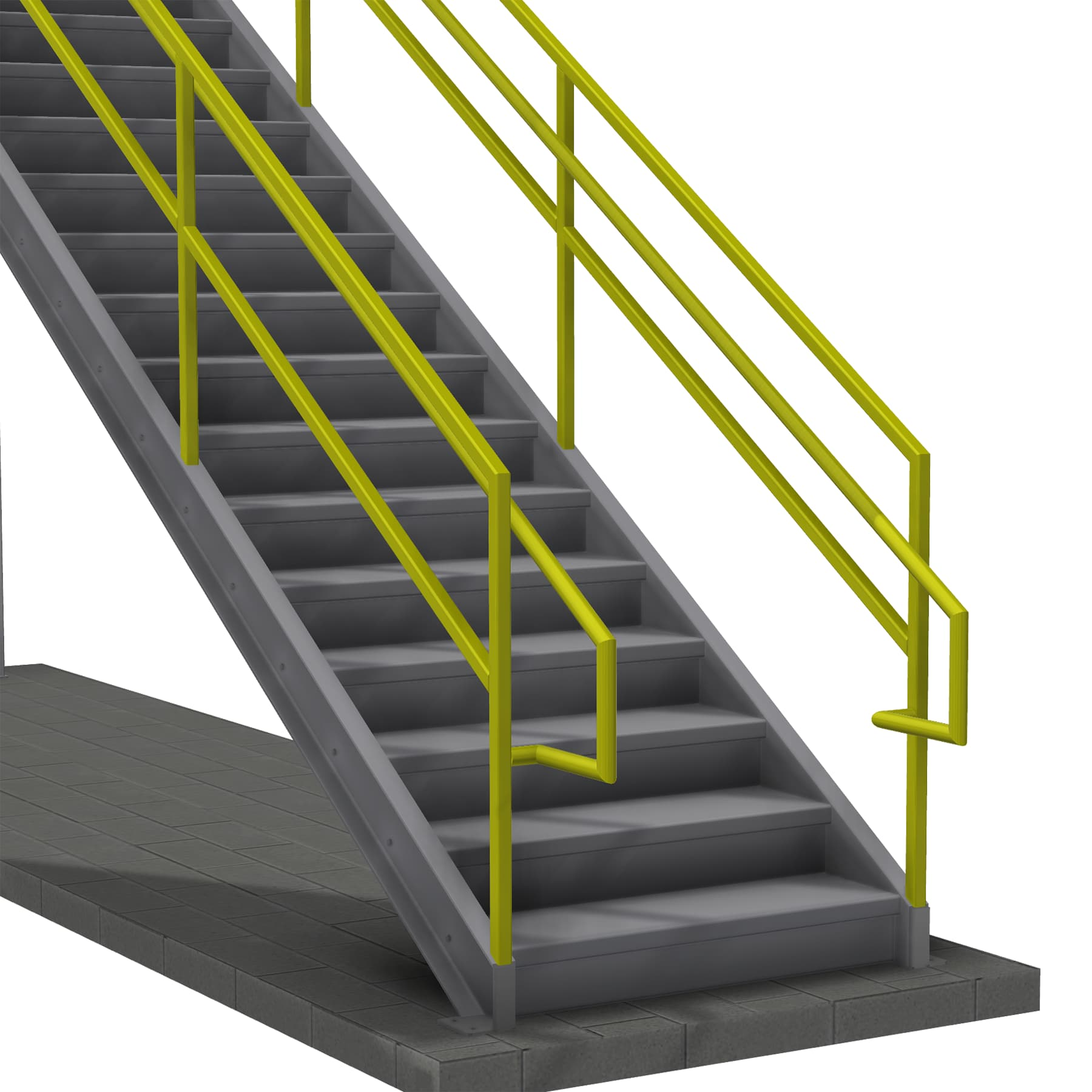Stair with Inner Handrail