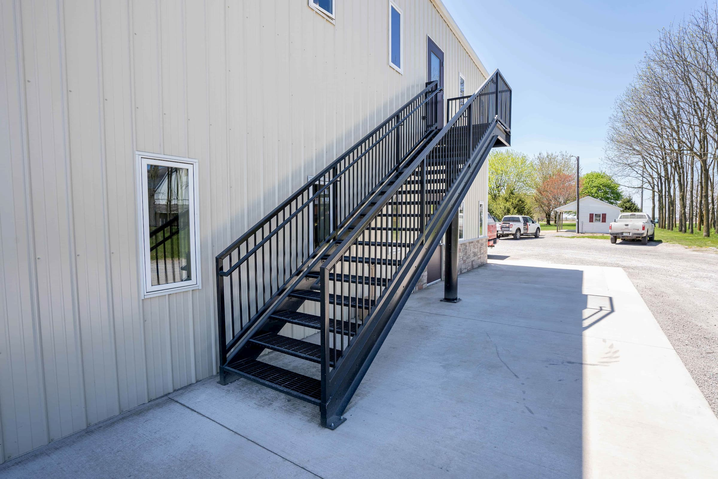 Commercial Stair with Bar Grate Treads