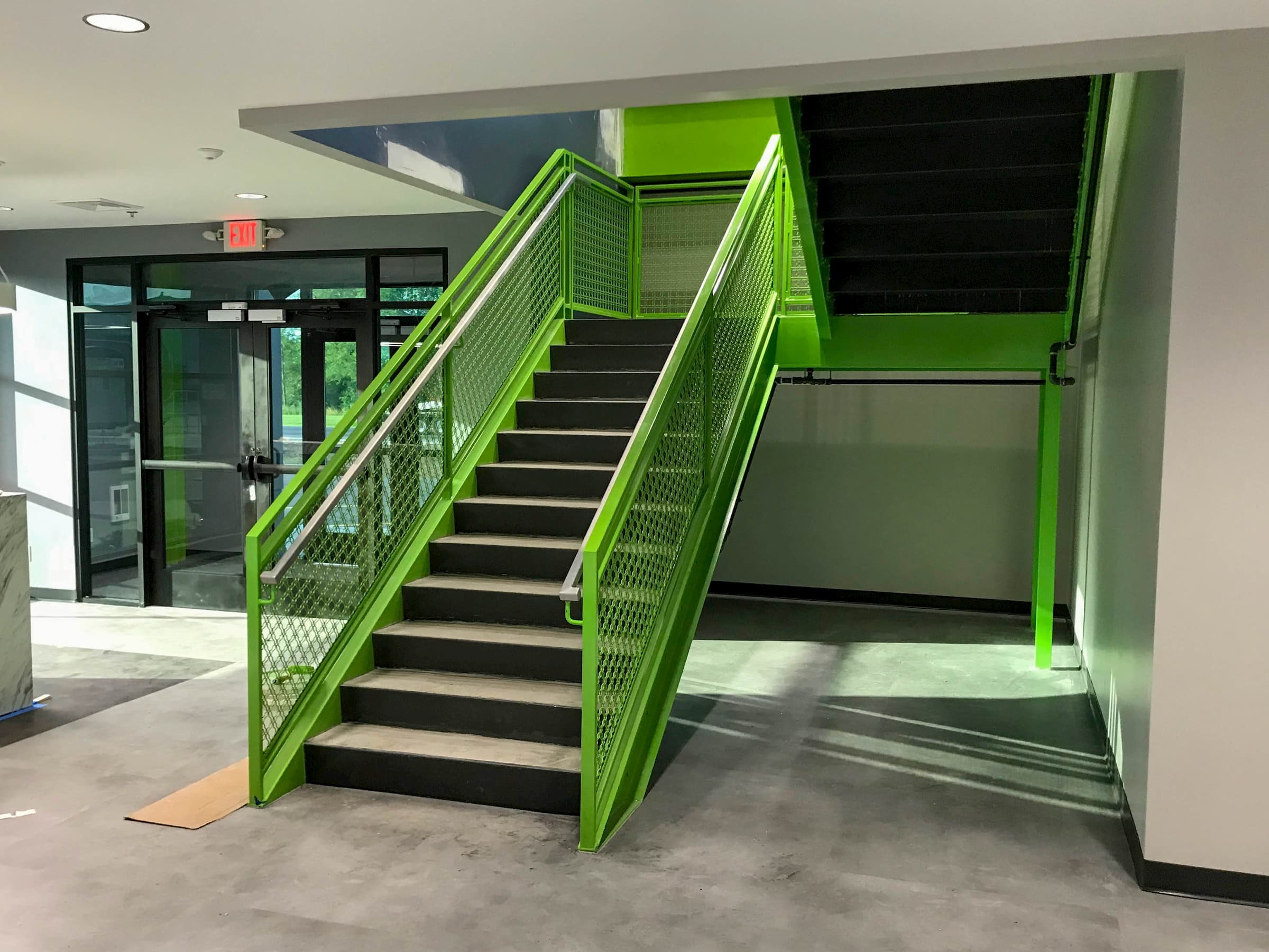 Commercial Stair with Poured Pan Treads