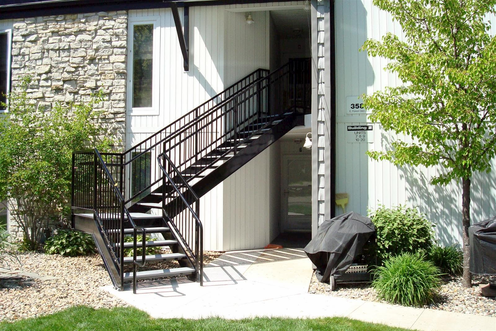 Custom Stair With Open Tread