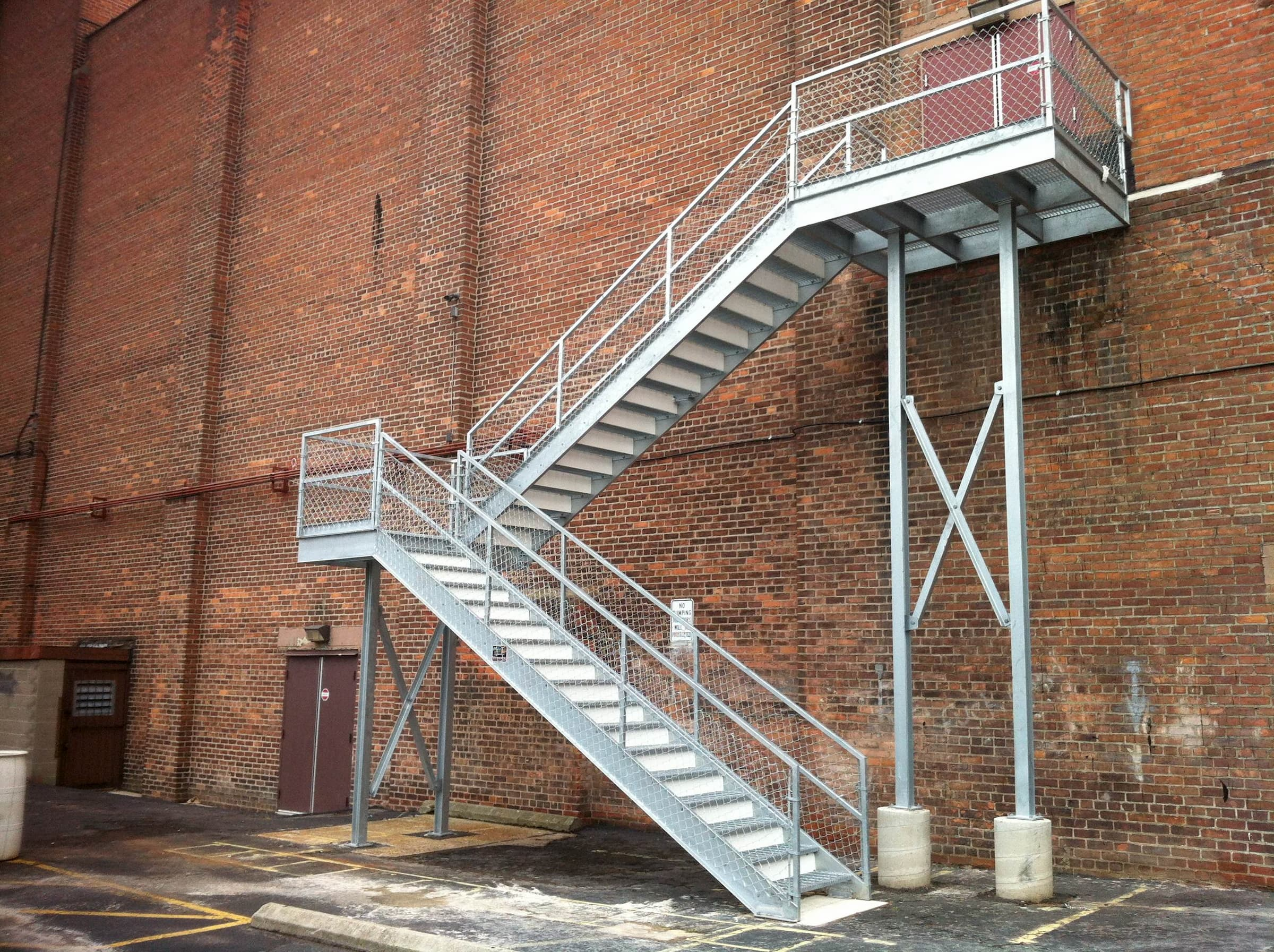 Exterior Switchback Stair